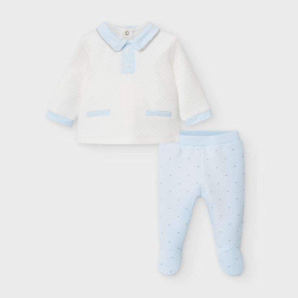 Adrian East online Blue and Ivory Two Piece