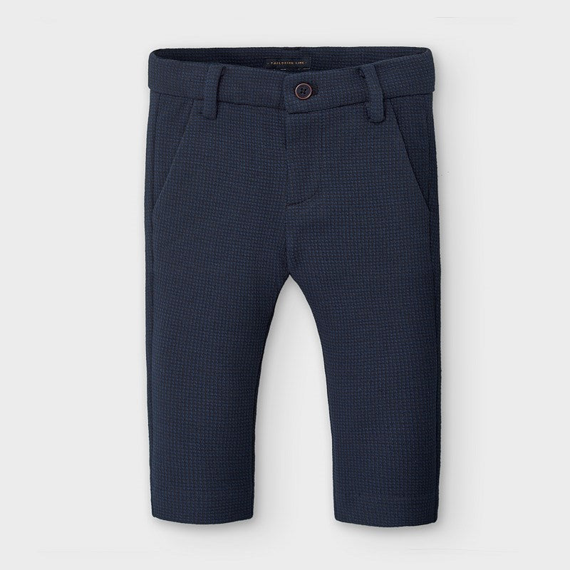 Adrian East online Navy Dress Pants with Blue Accent