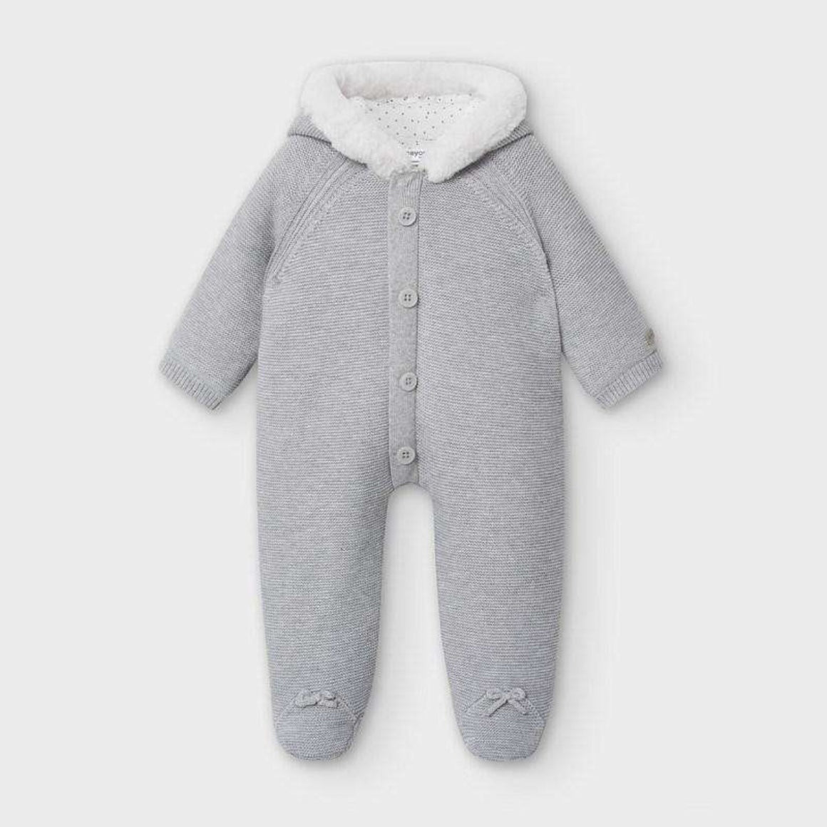 Adrian East online The best Fur-Lined Knit Snowsuit in Grey