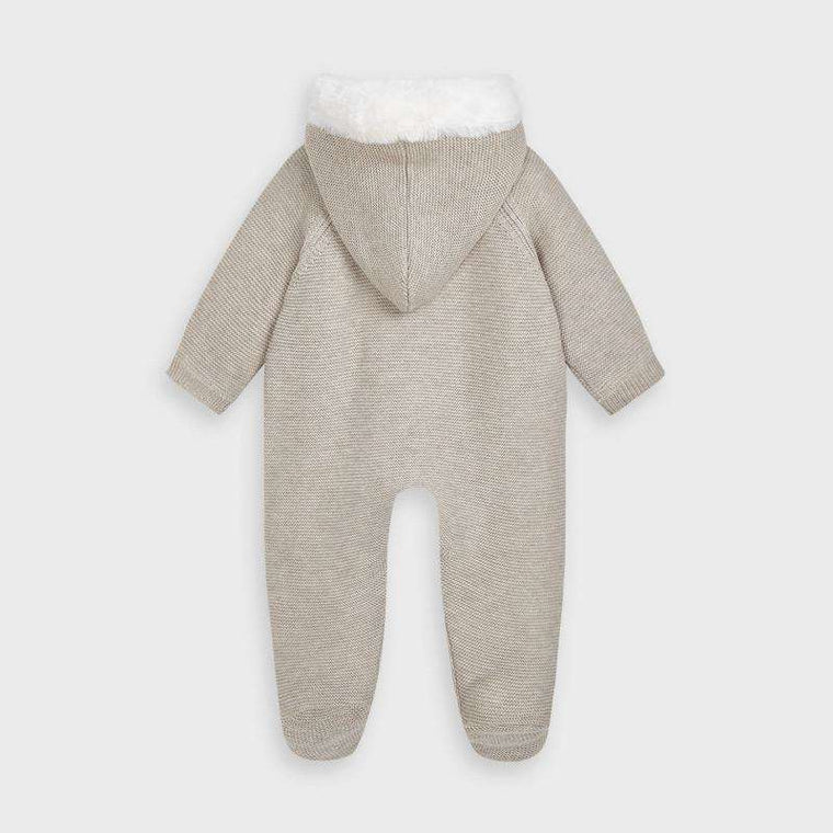 Adrian East online Fur-Lined Knit Snowsuit in Beige