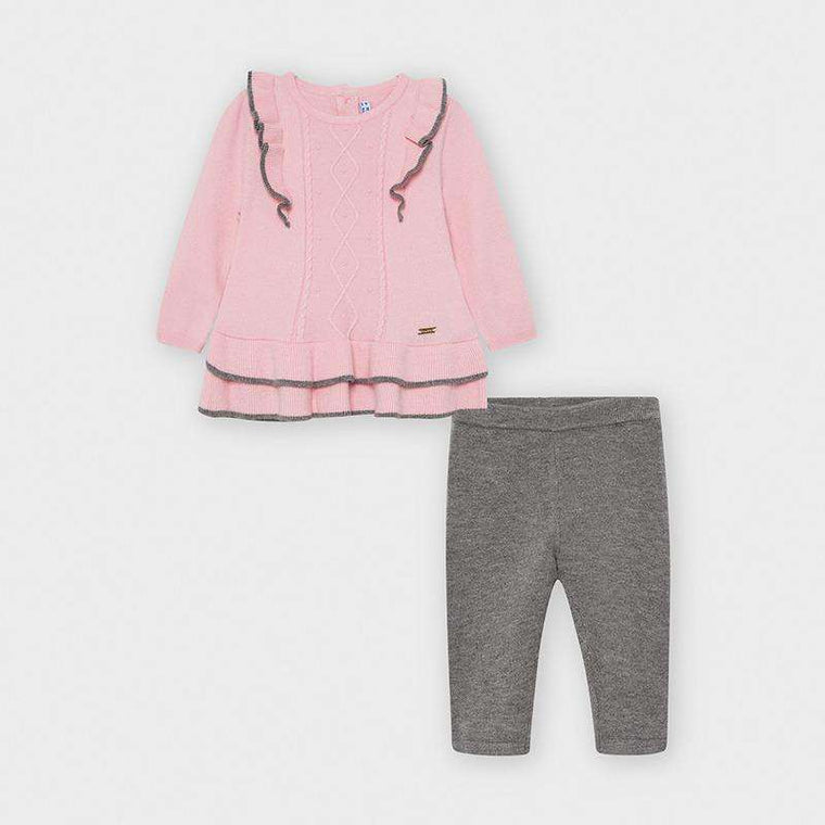 Adrian East online PINK AND GRAY TWO-PIECE SWEATER AND LEGGING SET