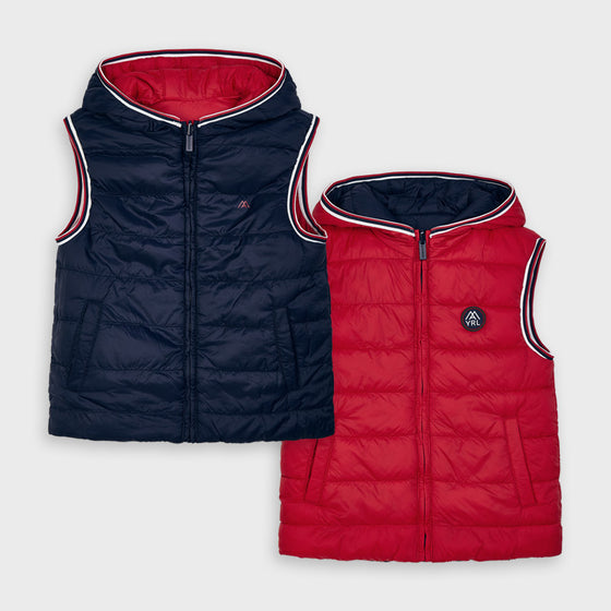 Adrian East online Reversible Dark Red & Navy Vest
