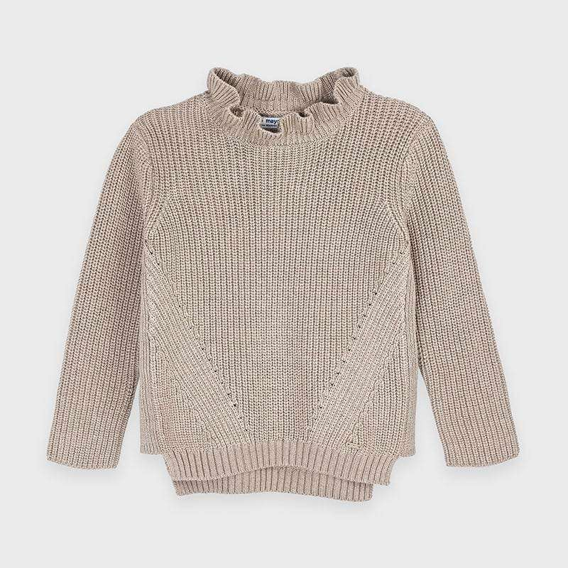 Adrian East online BEIGE METALLIC SWEATER & STRETCH CORDS