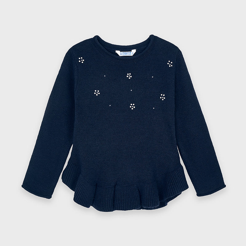 Adrian East online Girls Navy Sweater w/ Purse Shorts & Tights