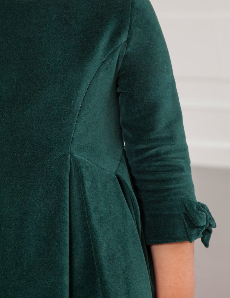 Holiday Green Velvet Dress