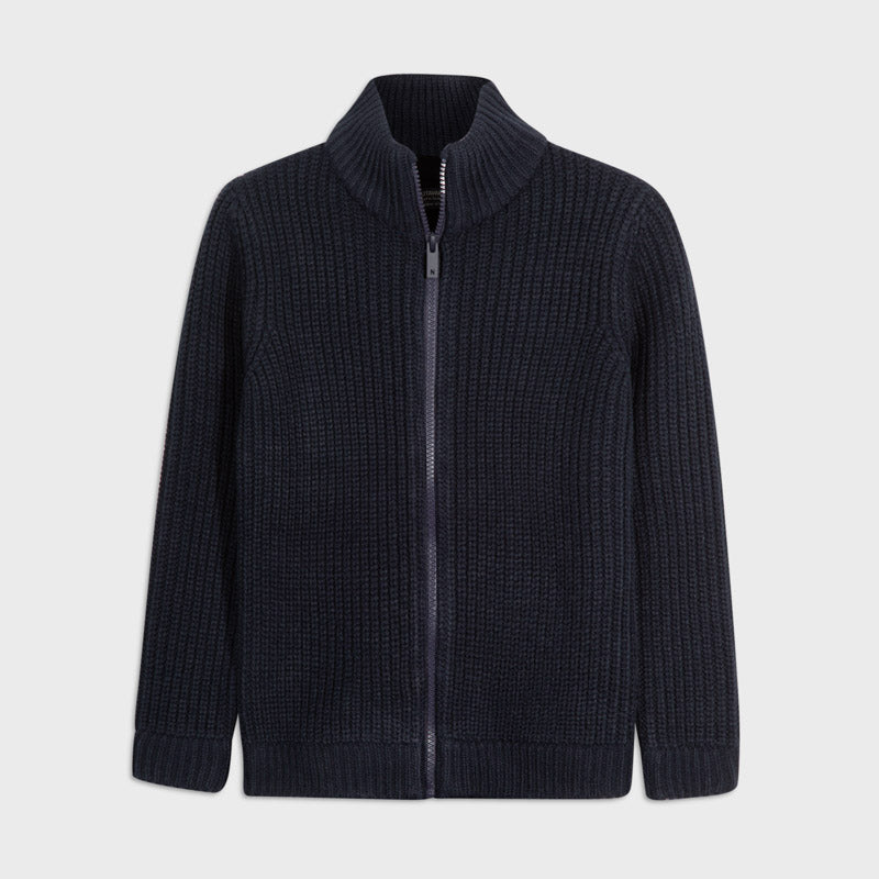 Adrian East online Boy Knit Zip-Up Sweater Jacket