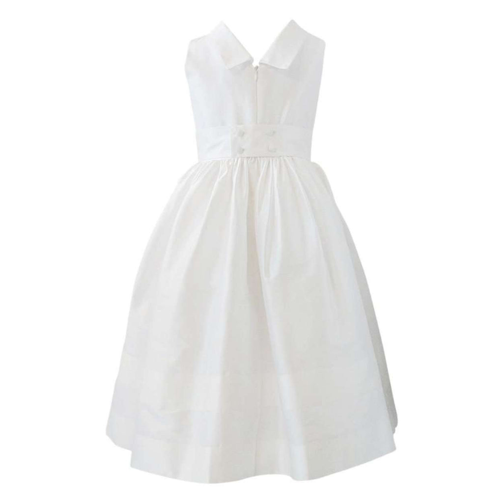 Adrian East Girls Communion Dress With Pleats & Rolled Collar