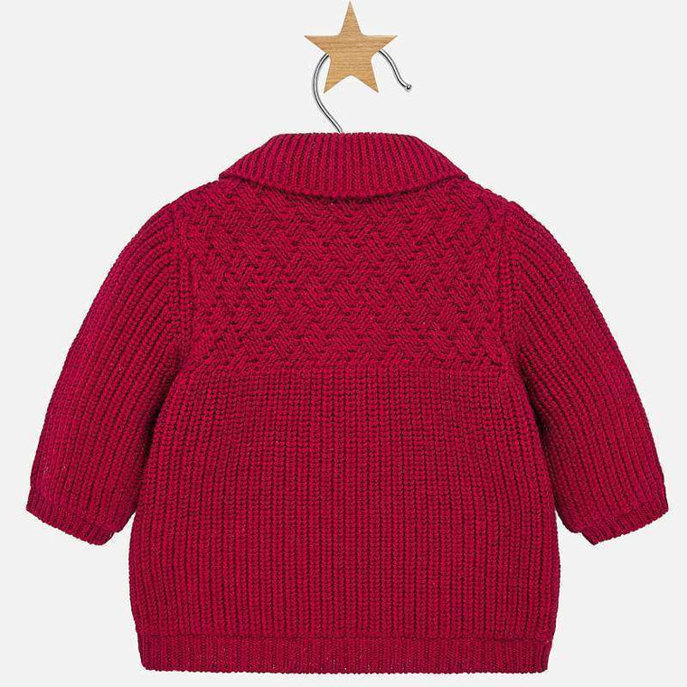 Burgundy Ribbed Toggle Sweater