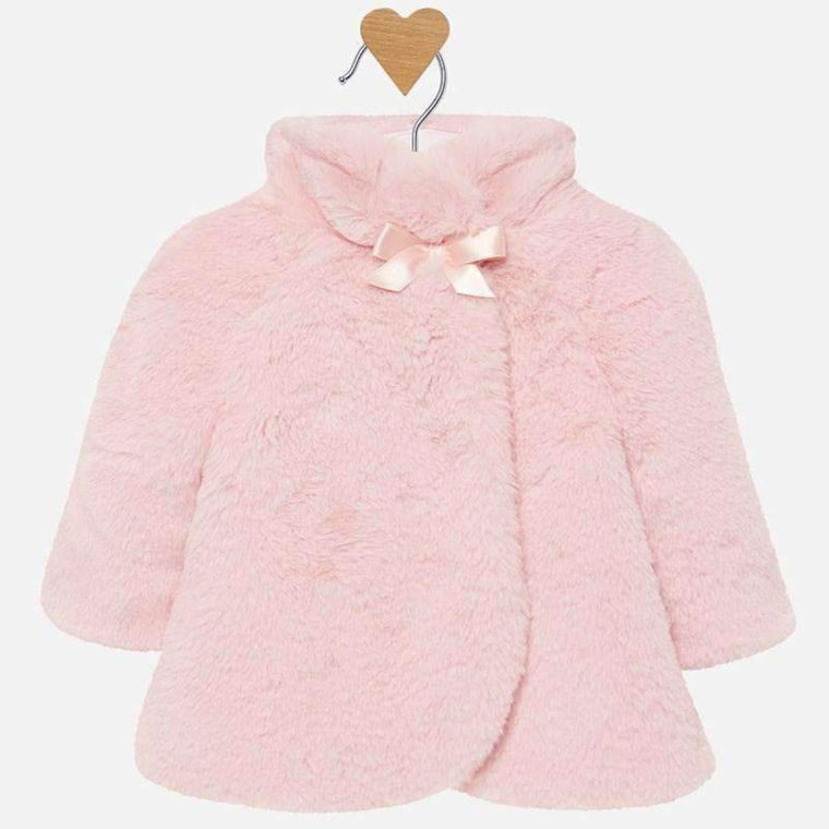 Blush pink Fur Coat