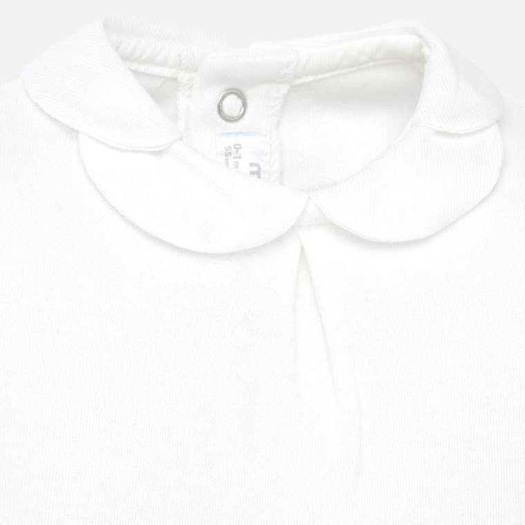 Adrian East online Baby Ivory Scallop Collar Top