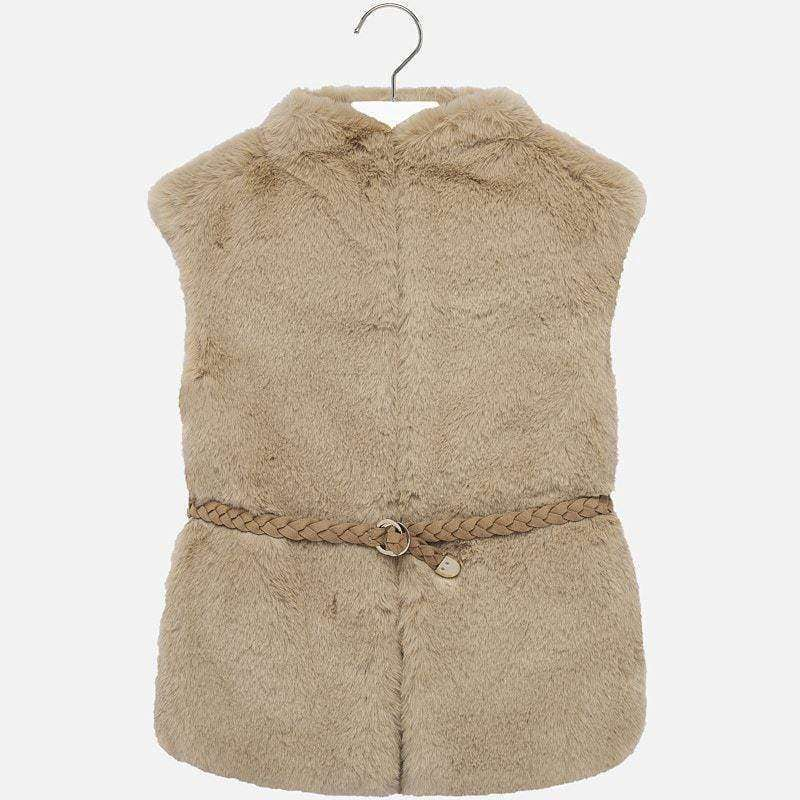Adrian East online Faux Fur Vest with Belt