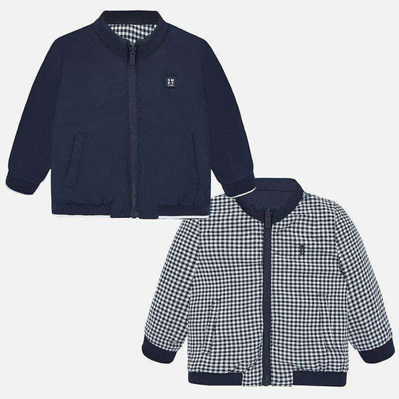 Adrian East online Navy & White Reversible Windbreaker