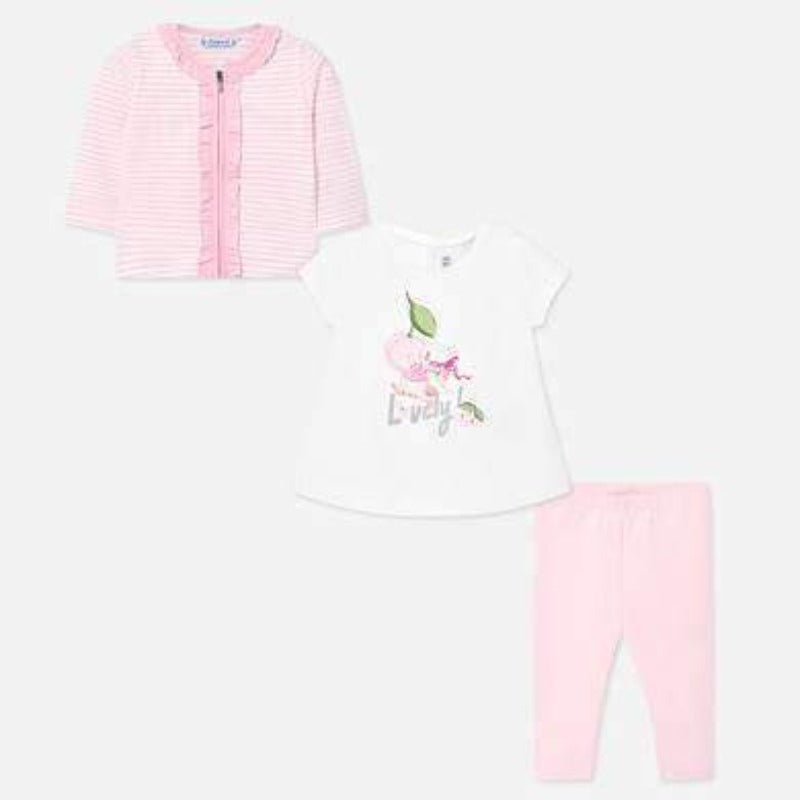 Adrian East online Pink & White Stripe Pant Set