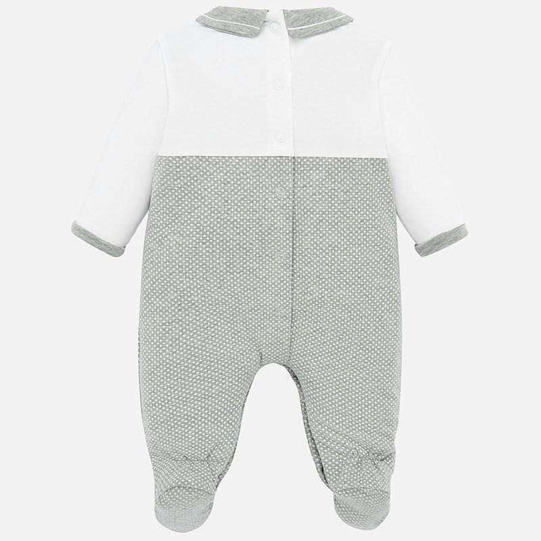 Adrian East online White and Gray Graphic Bunny onesie