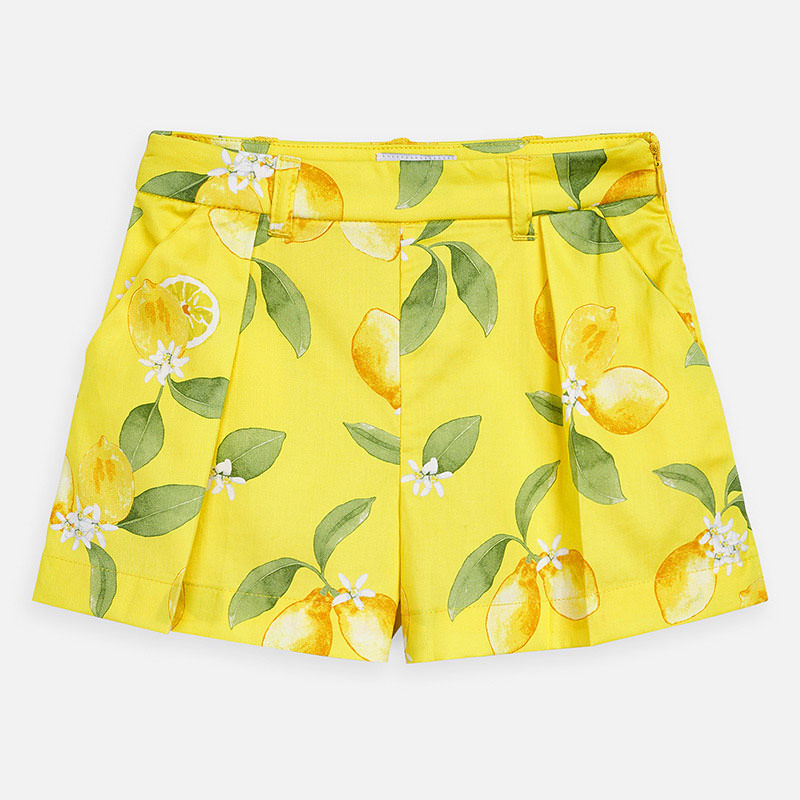 White Shirt w/ Lemon Shorts Set