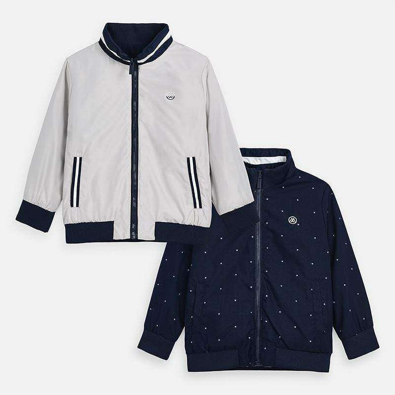 Adrian East online Stone & Navy Reversible Windbreaker