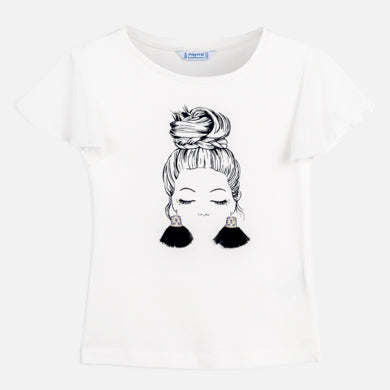 Girl with Earrings Shirt & Short Set