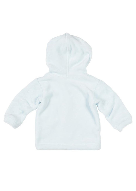 Adrian East online Baby Blue Velour Football Hoodie