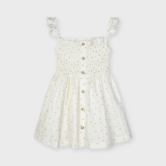 Ivory Lemon Dress w/ Buttons