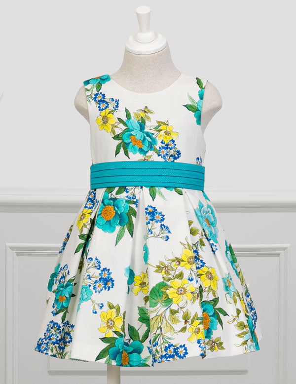 Bright Floral Party Dress