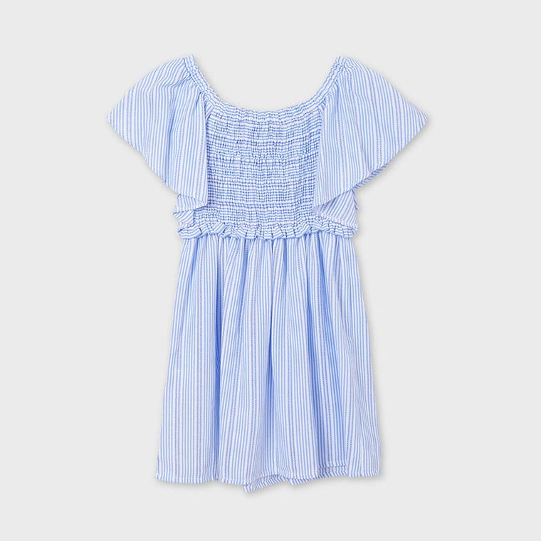 Bl & Wh Thin Stripe Dress