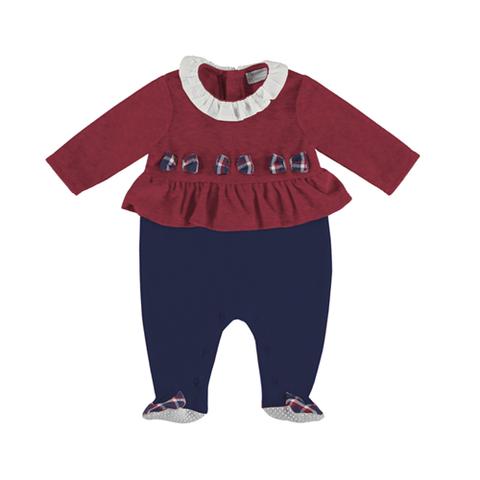 Adrian East online Holiday Velour & Plaid Footie
