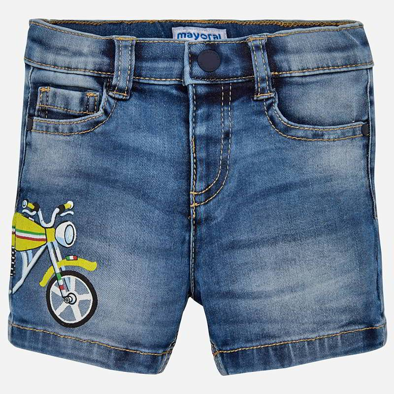 Motorcycle denim short set