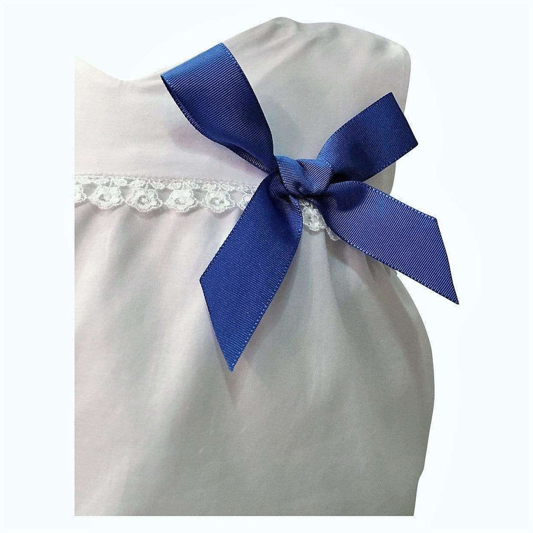 Blue & White Bow Skirt Set