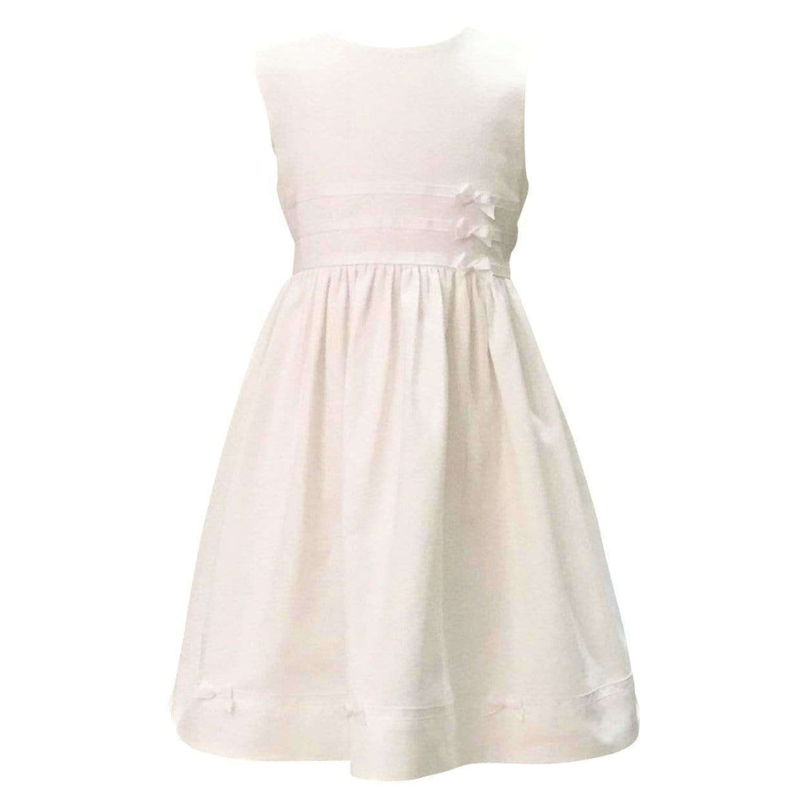 Adrian East online Classic White Pique Ribbon Dress