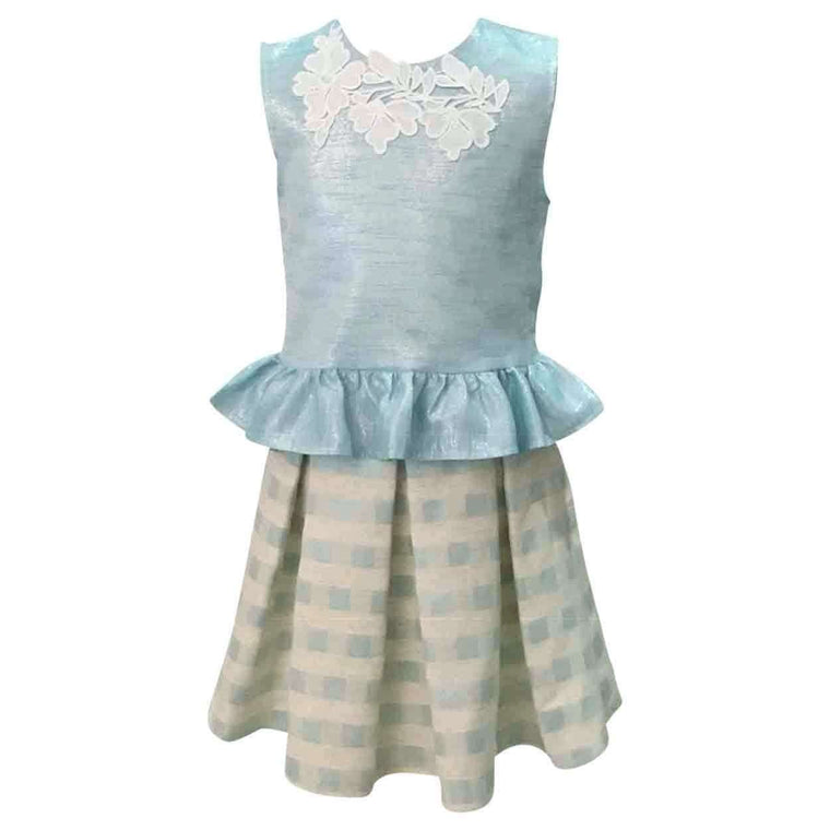 Adrian East online Irridescent Mint Skirt Set