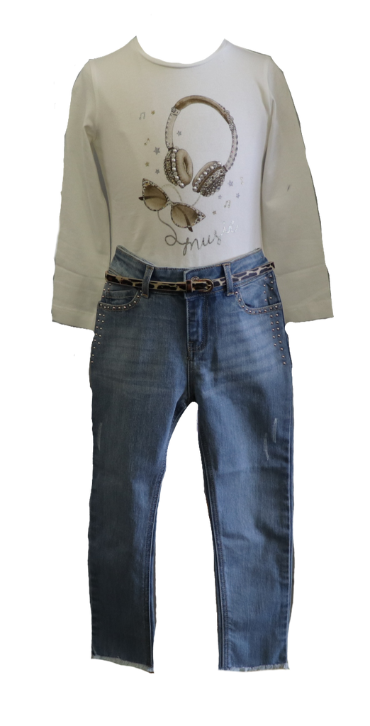 Music Shirt with Jeans