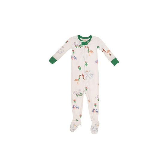Mistletoe Print PJ Footed 1-Pc