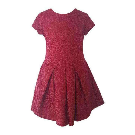 Adrian East online Girls Red Brocade Dress