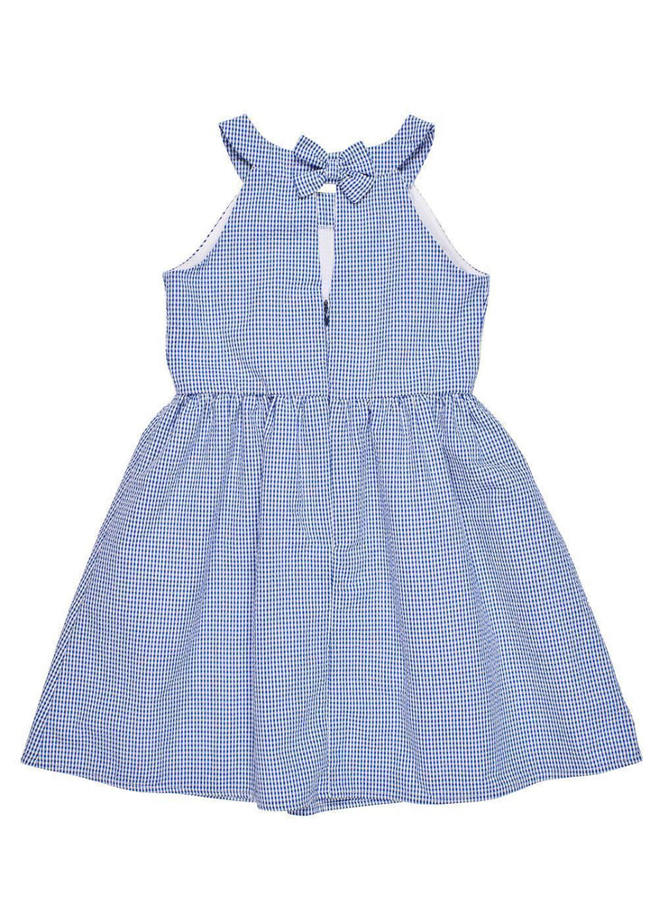 Bl & Wh Checkered Dress w/ Bow