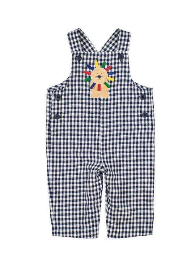 Adrian East online Navy Gingham Longall w/ Soft Lion
