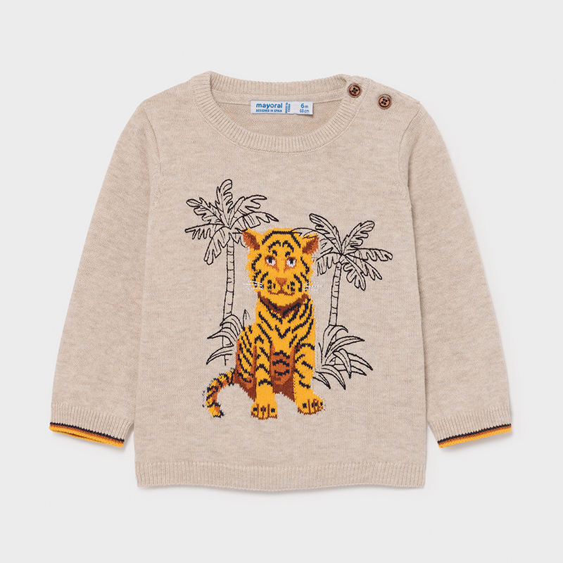 Jungle Tiger Bge Sweater