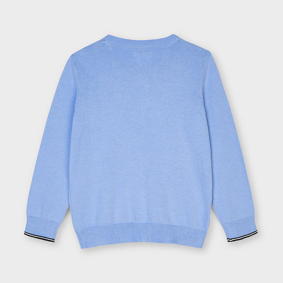 Light Blue Cotton  Sweater