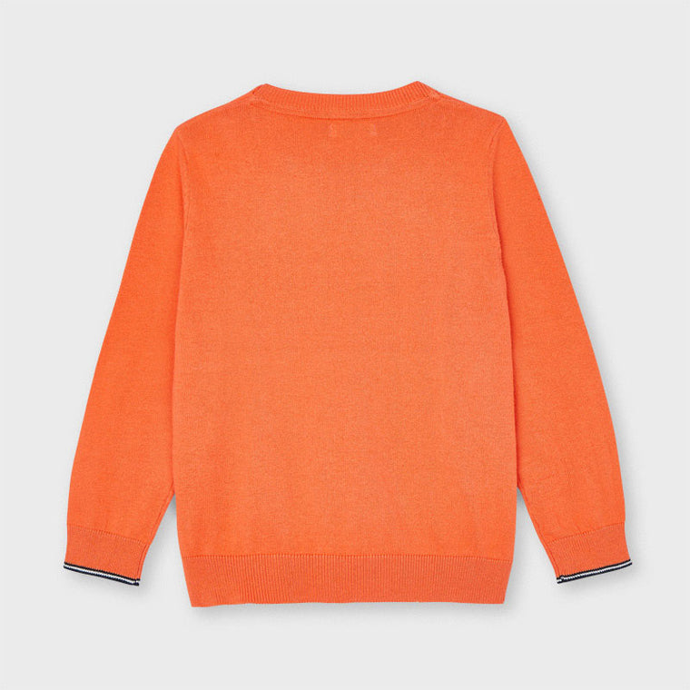 Light Orange Cotton  Sweater