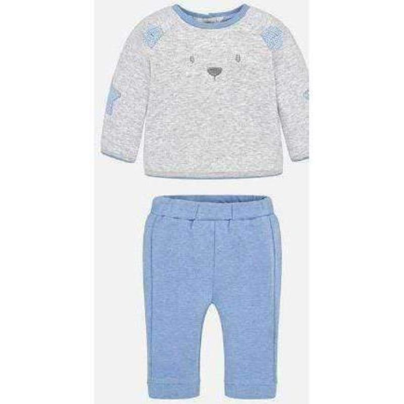 Blue & Gray 2-Pc Bear Set