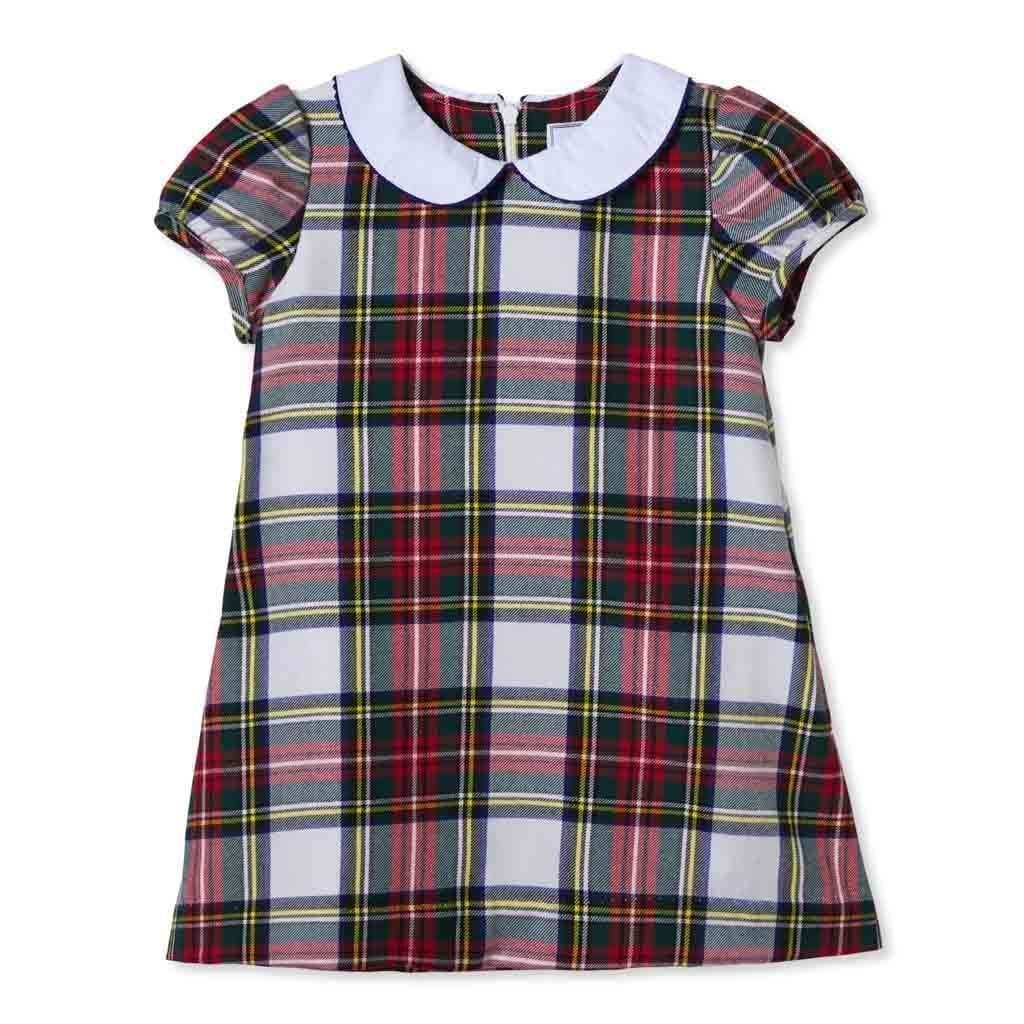 Adrian East online Tartan A-line Shift with Peter Pan Collar