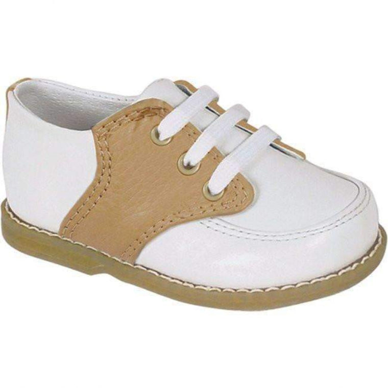 Boys Preppy Leather Saddle Shoes