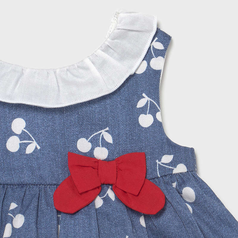 Denim cherry Dress