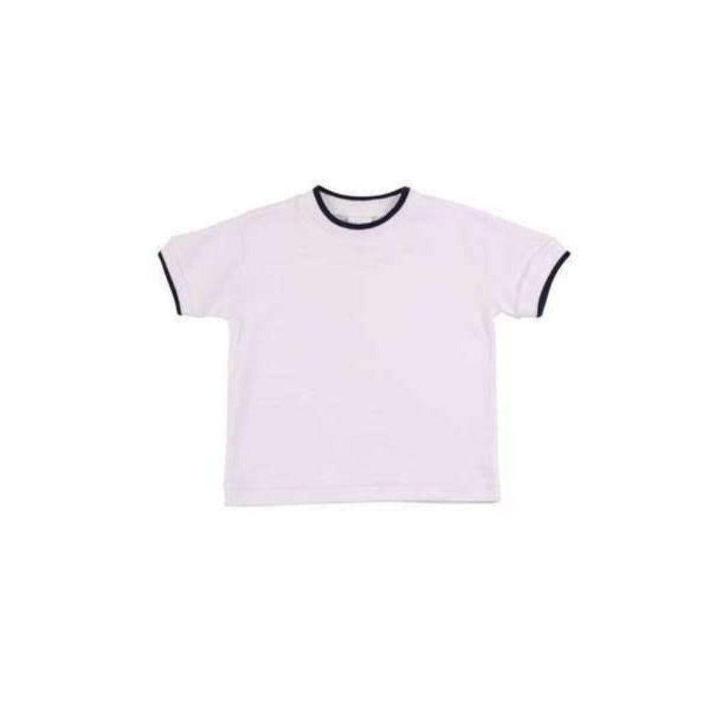 Adrian East onlineNAVY TIPPED SOFT COTTON KNIT TOP