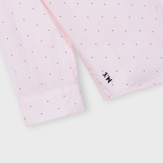 Light Pink  Collared Shirt w/ Dots