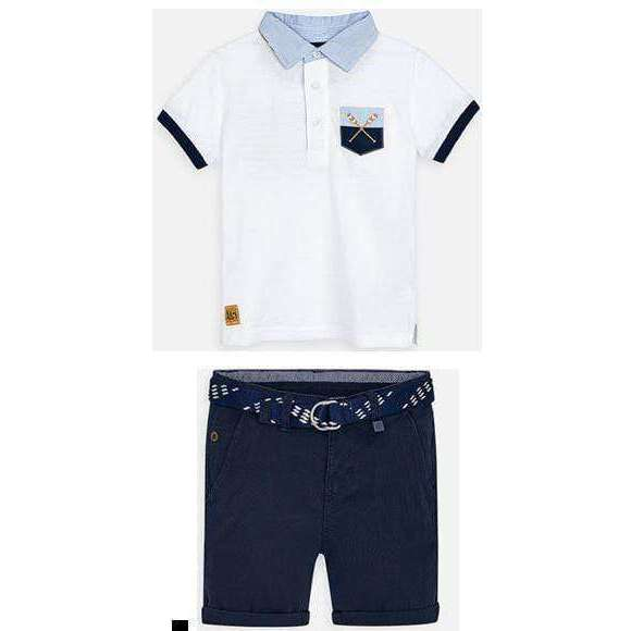 Adrian East online White & Blue Rowing Polo & Shorts