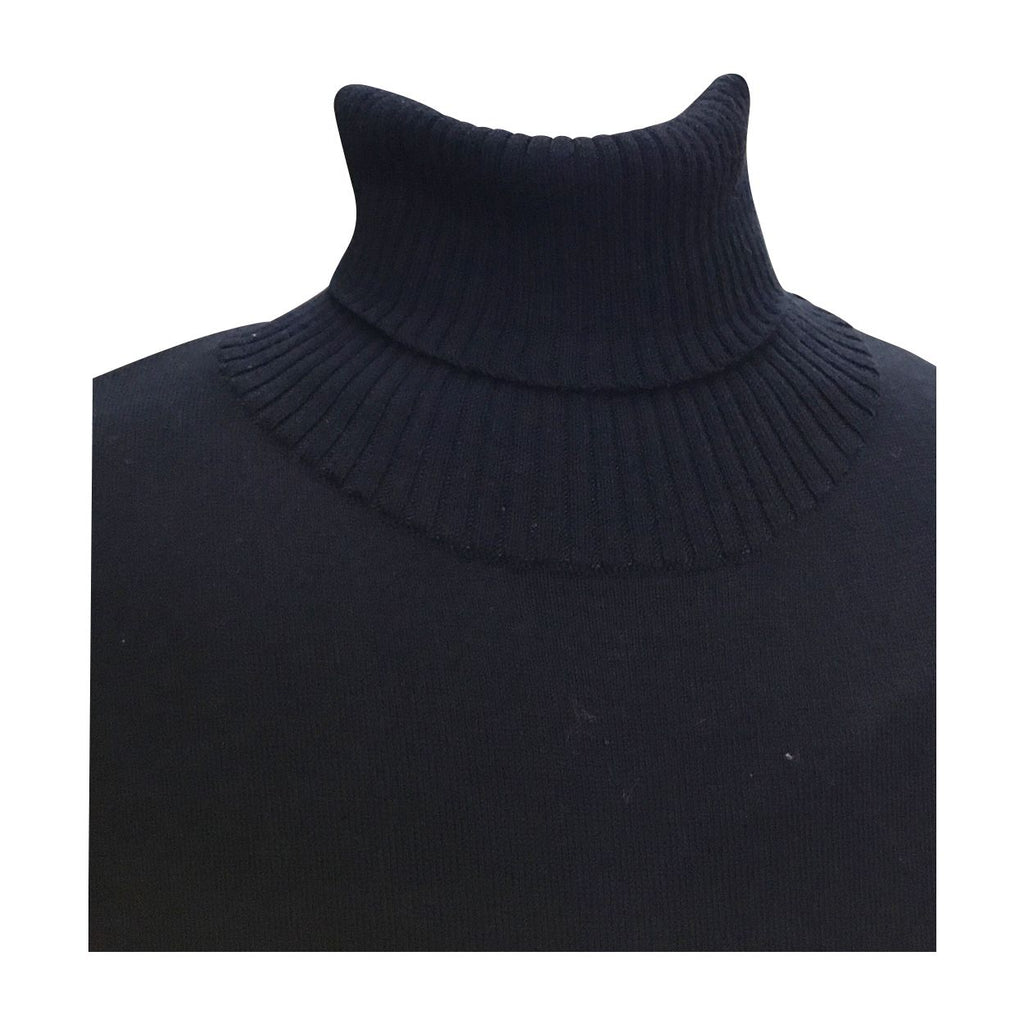 Navy Turtleneck w/ Leapord Jeans