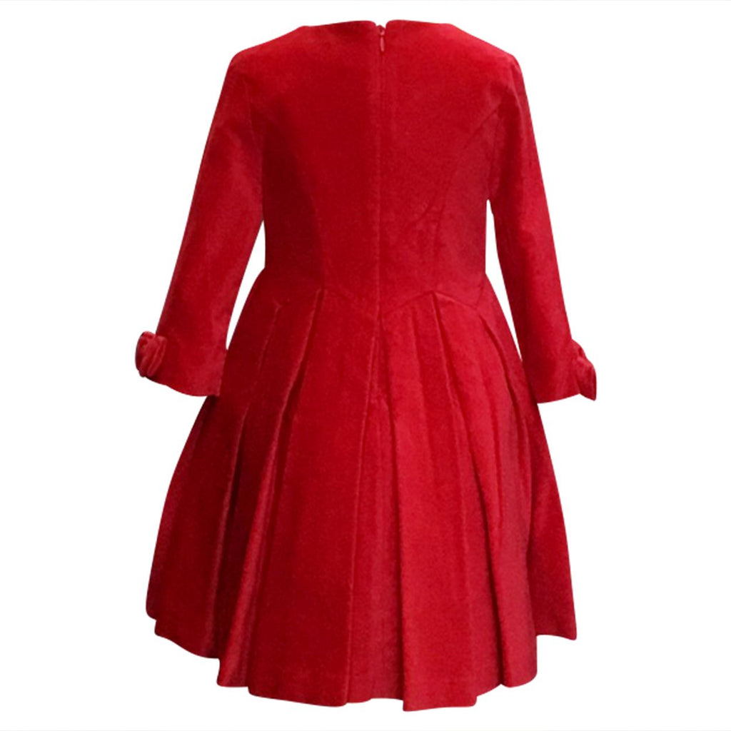Holiday Red Velvet Dress