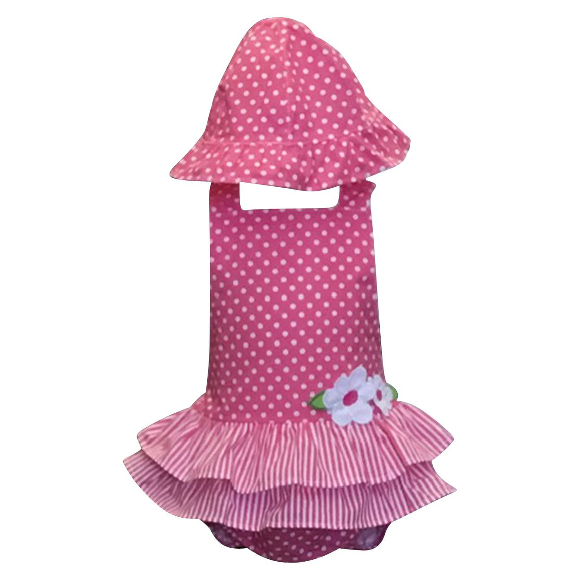 Polkadot and Stripe Bubble w/ Hat