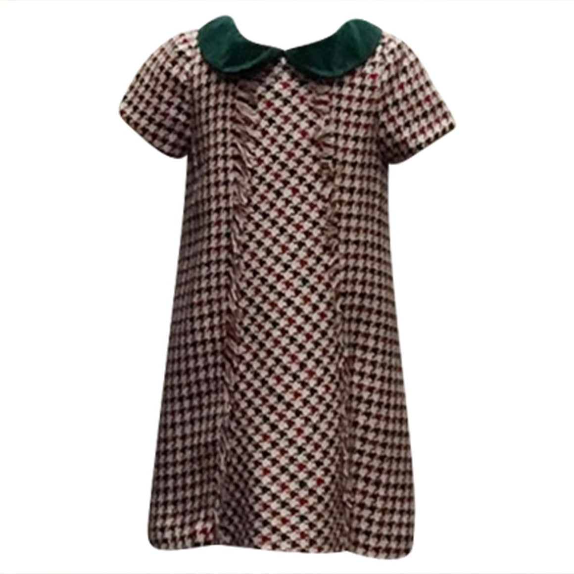 Plaid A-Line Shift Dress