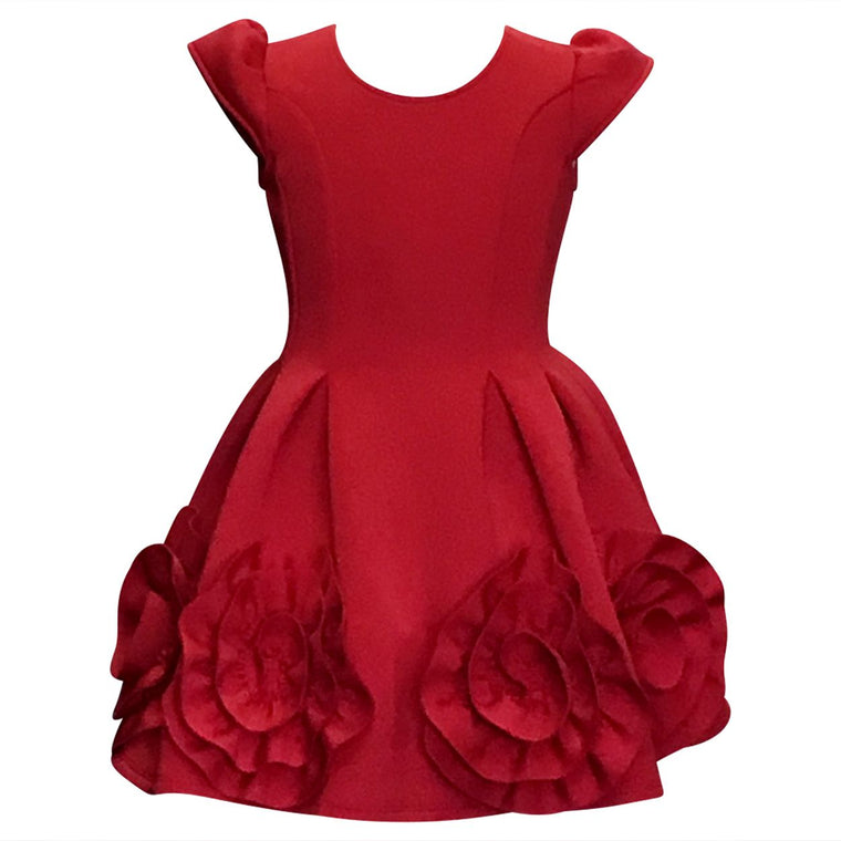 Red Swirl Dress